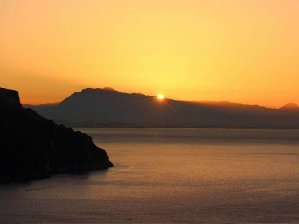 Sunset view Amalfi Coast from Ravello Italy Carol Ketelson Delectable Destinations Culinary Tours