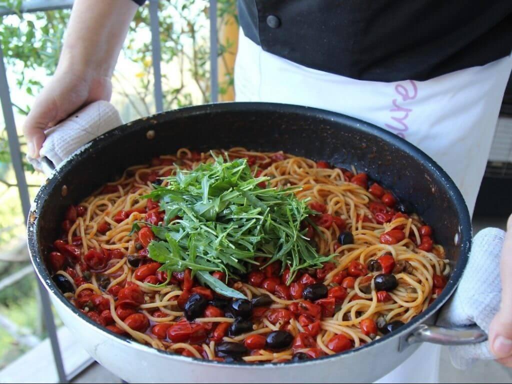 Farmers spaghetti Mamma Agata Cooking School Amalfi Coast Italy Carol Ketelson Delectable Destinations Culinary Tours