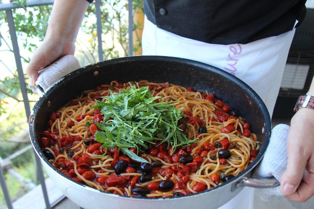 Farmer's spaghetti Mamma Agata Cooking Scool Amalfi Coast Italy Carol Ketelson Delectable Destinations Culinary Tours