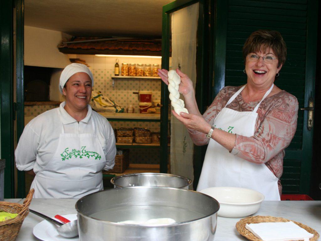 Mozzarella making Amalfi Coast Italy Carol Ketelson Delectable Destinations Culinary Tours