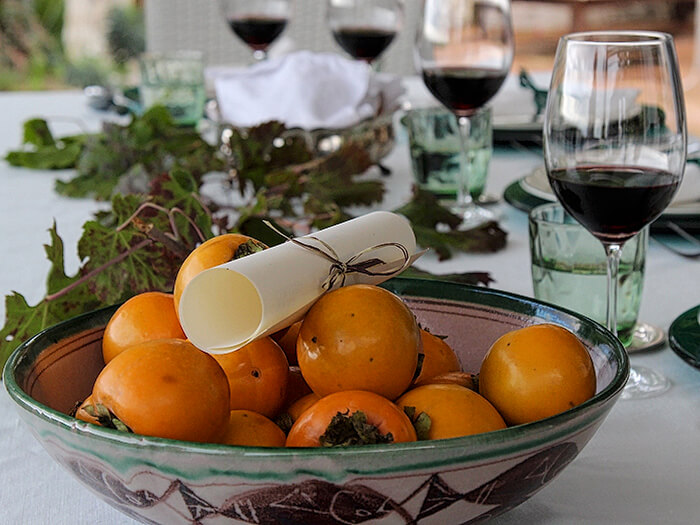 Persimons and Wine Mamma Agata Cooking School Ravello Amalfi Coast Italy Carol Ketelson Delectable Destinations Culinary Tours