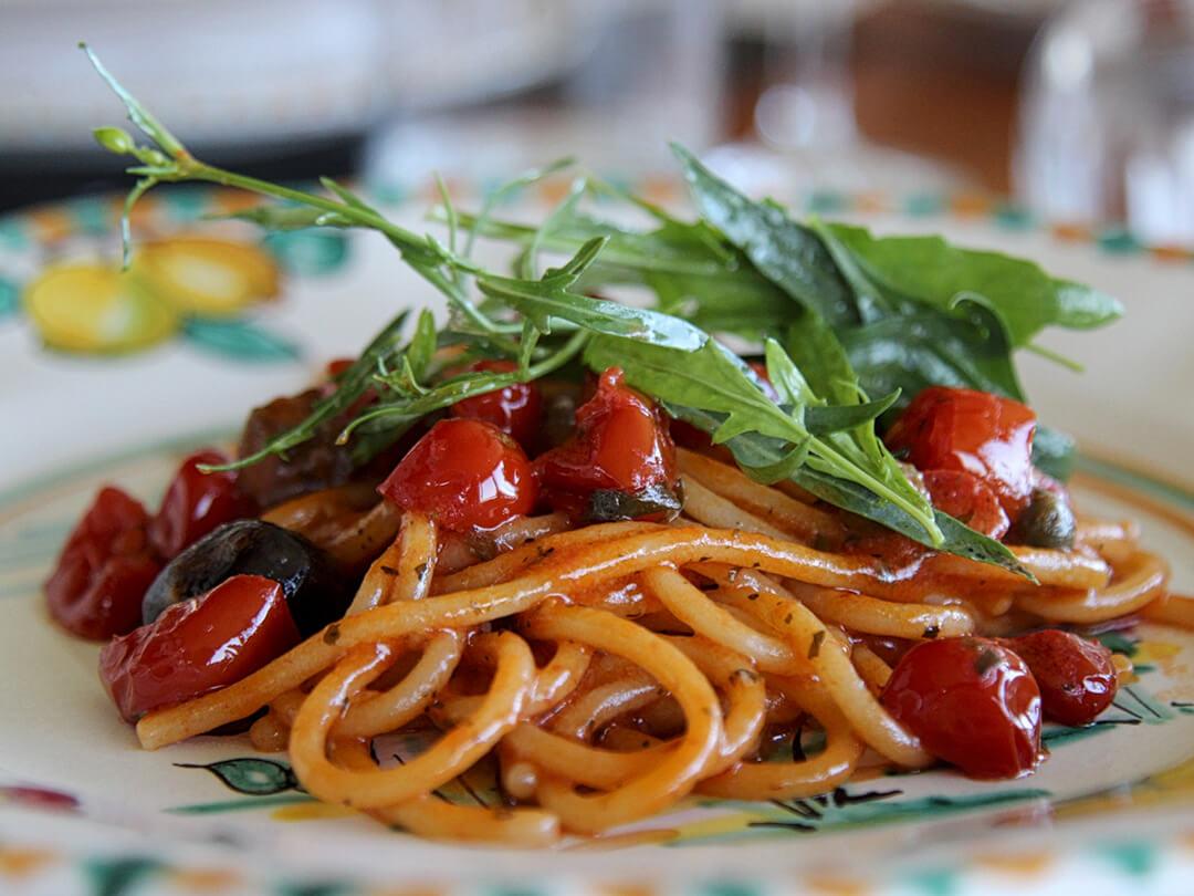 Farmer's Spaghetti Recipe Mamma Agata Cooking Class Amalfi Coast Italy Carol Ketelson Delectable Destinations Culinary Tours