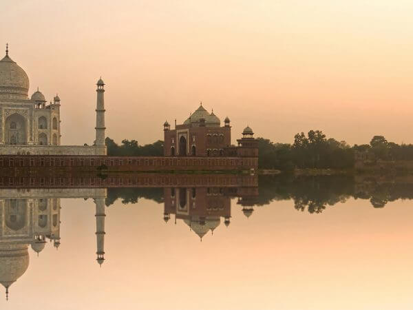 Taj Mahal Gorgeous Sunset Agra India
