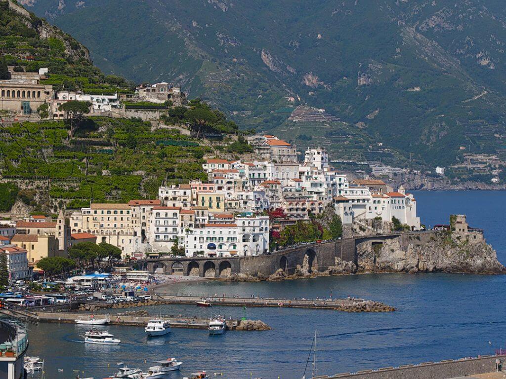 Views from Santa Caterina Hotel Amalfi Amalfi Coast Campania Italy Carol Ketelson Delectable Destinations Culinary Tours
