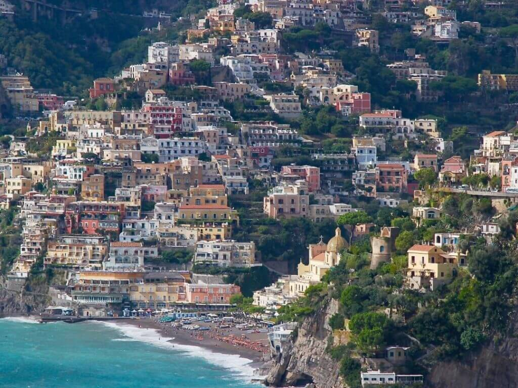 panoramic view of Positano Amalfi Coast Italy