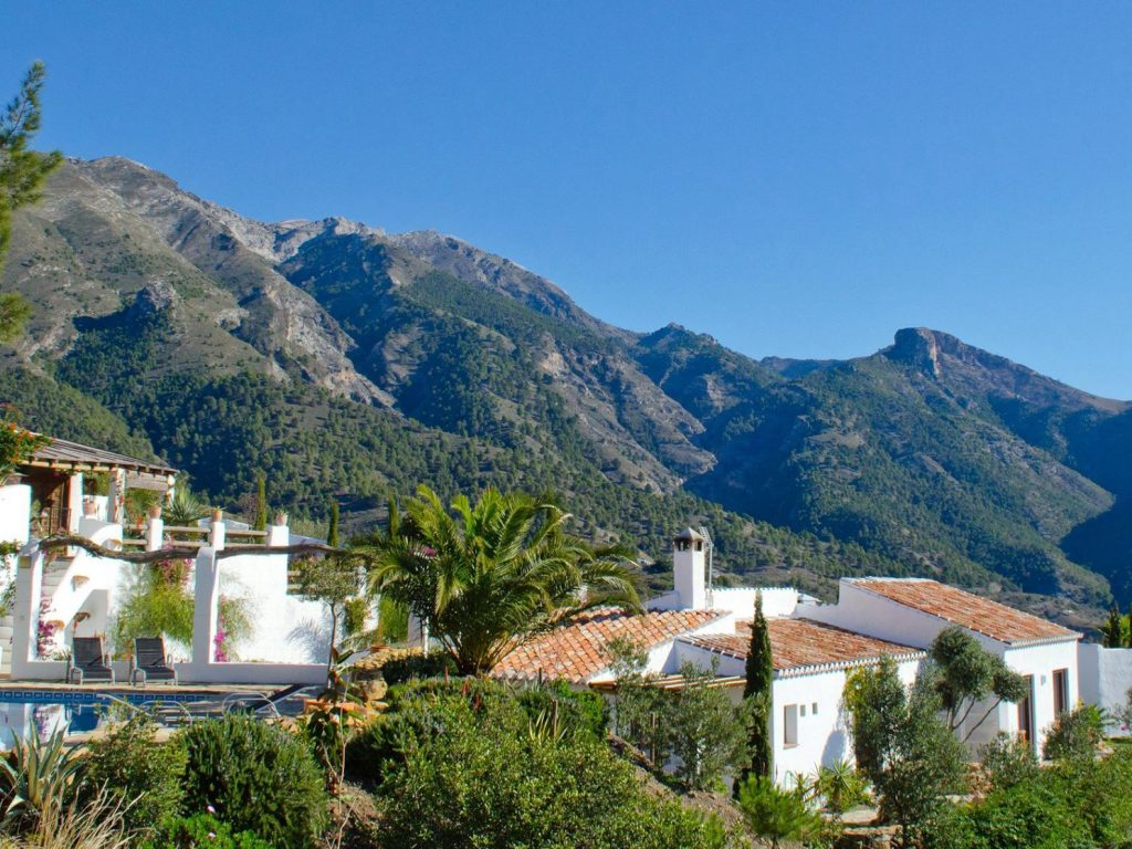 mountain views el Carligto Private Andalucian Hideaway Carol Ketelson Delectable Destinations Culinary Tours