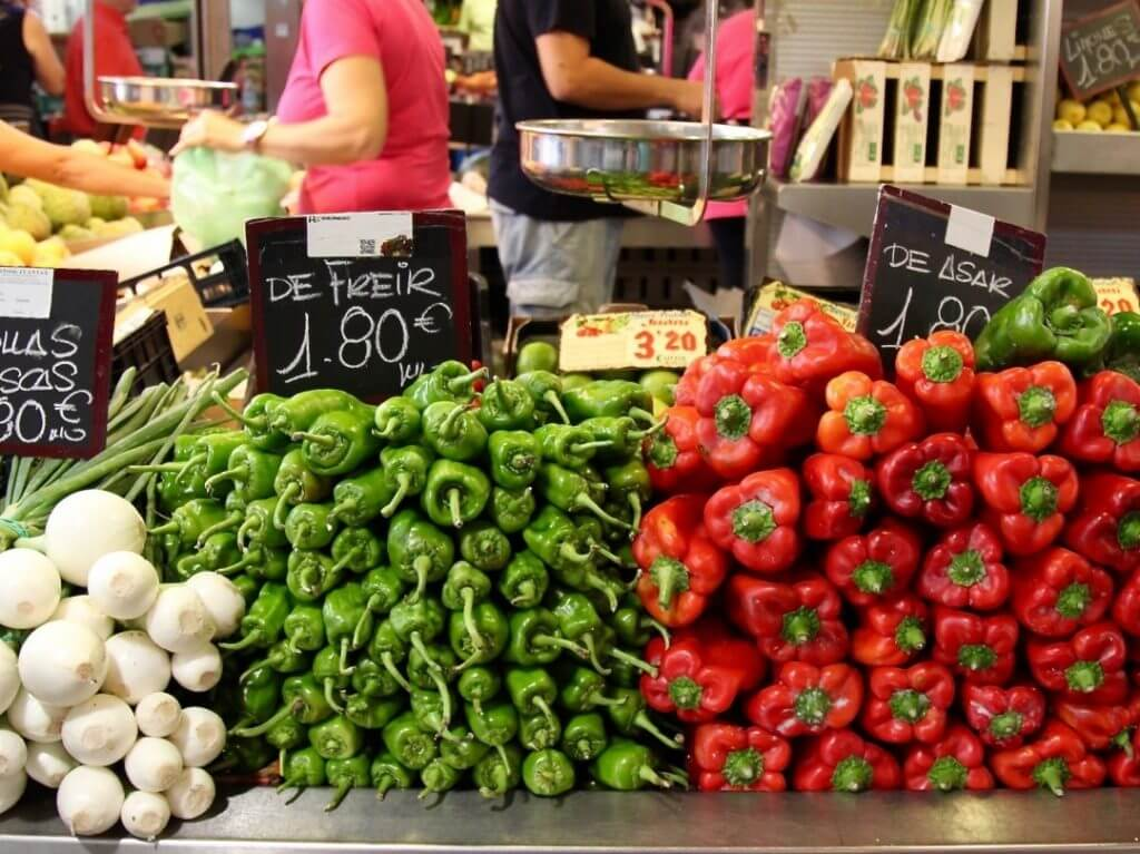 fresh vegetables Mercado Central de Atarazanas Malaga Andalucia Spain Carol Ketelson Delectable Destinations Culinary Tours