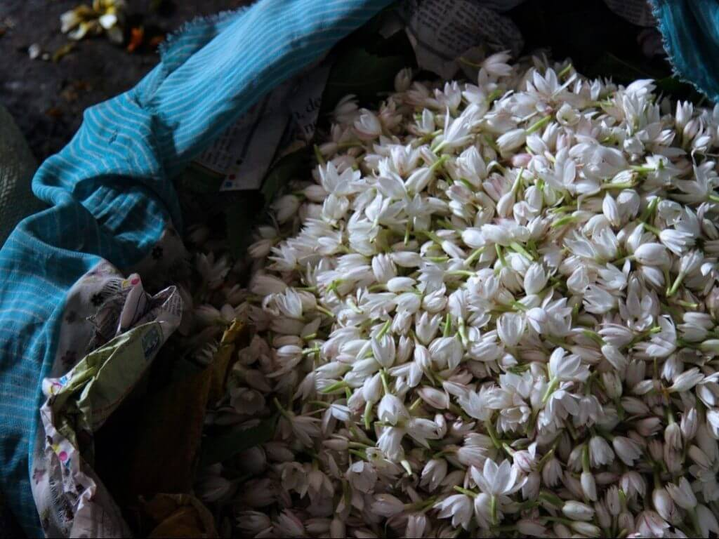 flower market old Delhi India Carol Ketelson Delectable Destinations Culinary Tours