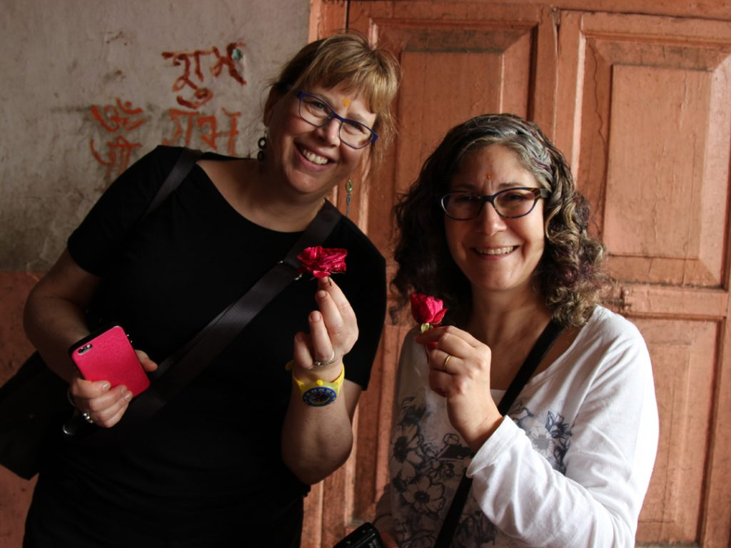 welcome flowers India Carol Ketelson Delectable Destinations Culinary Tours
