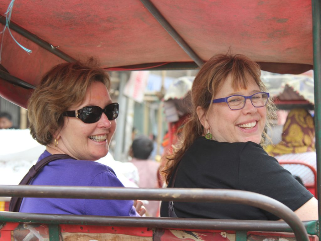 rickshaw ride old Delhi India Carol Ketelson Delectable Destinations Culinary Tours