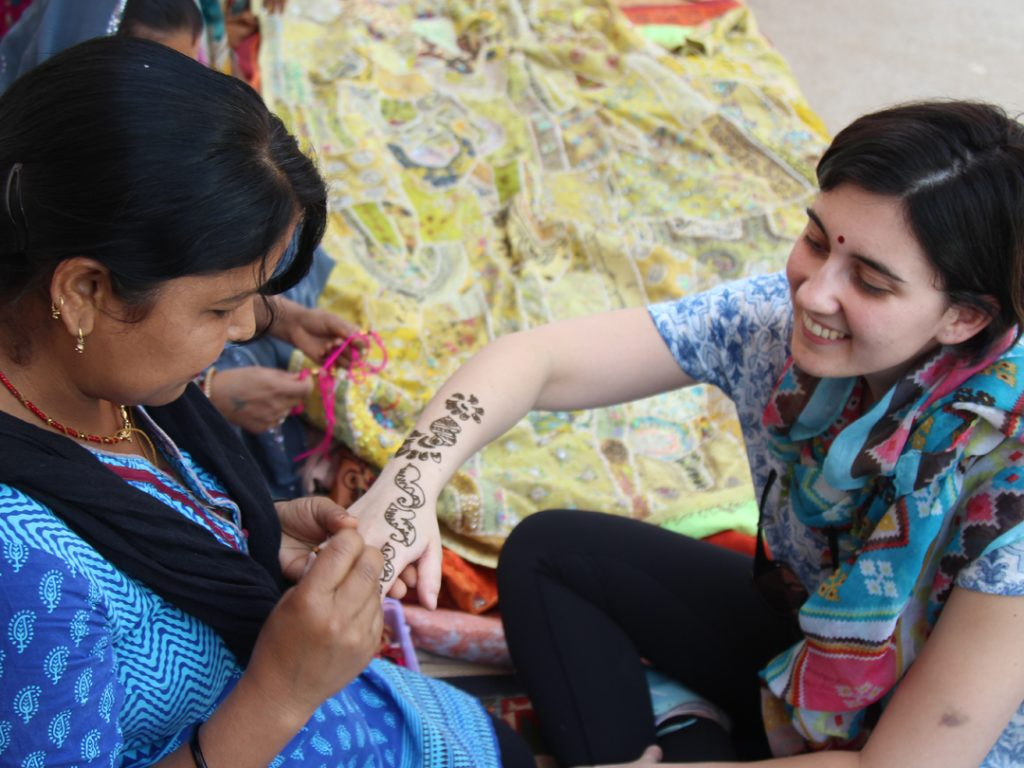 henna tattoo old Delhi India Carol Ketelson Delectable Destinations Culinary Tours