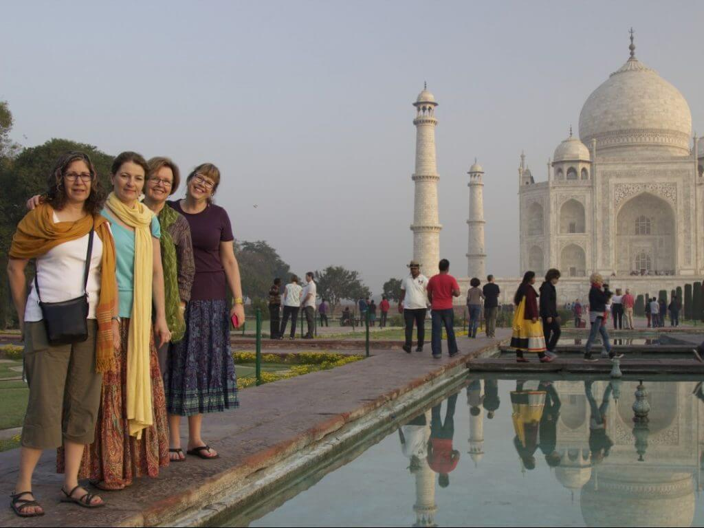 Taj Mahal at dawn Agra India Carol Ketelson Delectable Destinations Culinary Tours