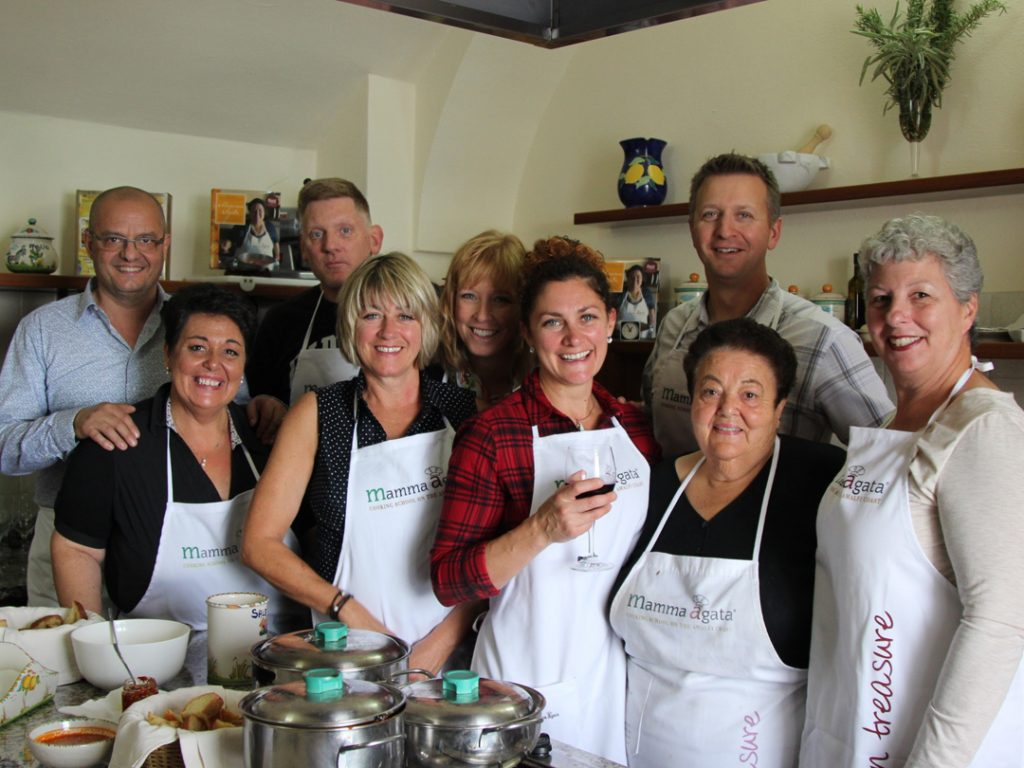 cooking class at Mamma Agata Amalfi Coast Italy Carol Ketelson Delectable Destinations Culinary Tours