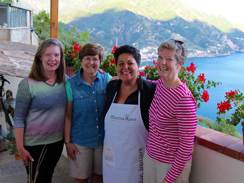 Cookery Tours at Mamma Agata's Cooking School Amalfi Coast Italy Small Group Tours Exclusive Tours Carol Ketelson Delectable Destinations Culinary Tours