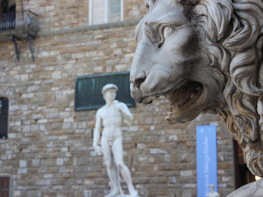 statue of David Galleria dell'Accademia Florence Italy Carol Ketelson Delectable Destinations Culinary Tours