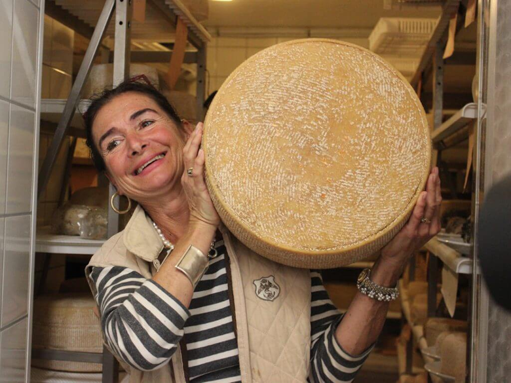 cheese wheel Tuscany Italy Carol Ketelson Delectable Destinations Culinary Tours