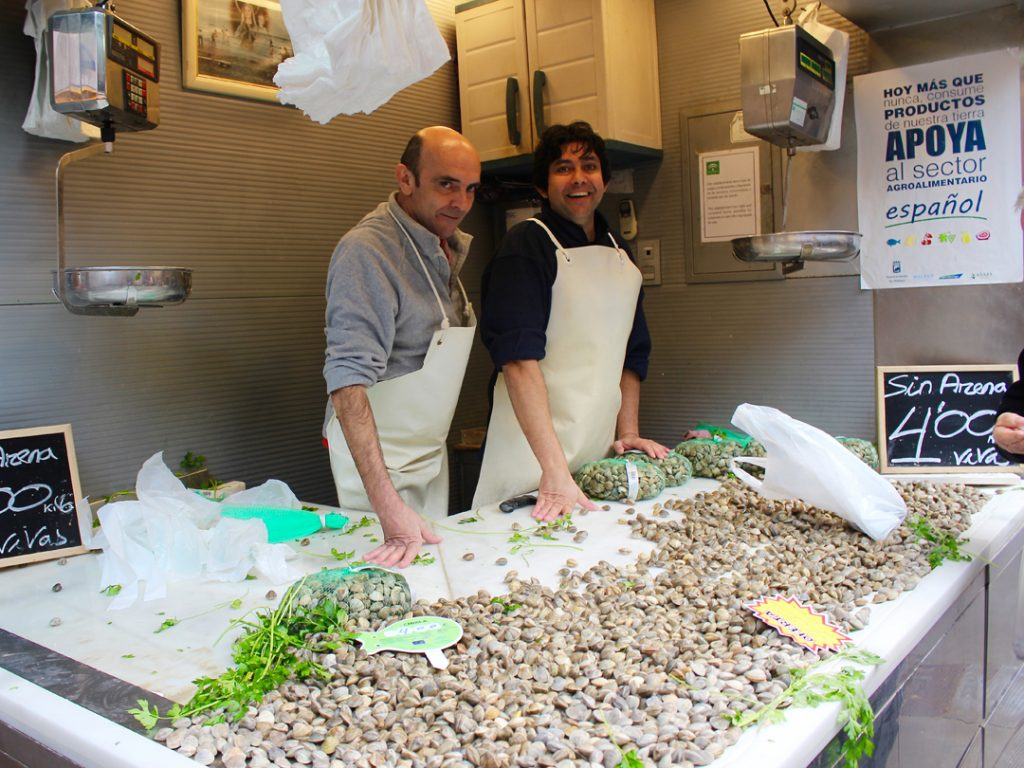 fish monger market Malaga Andalucia Spain Carol Ketelson Delectable Destinations Culinary Tours