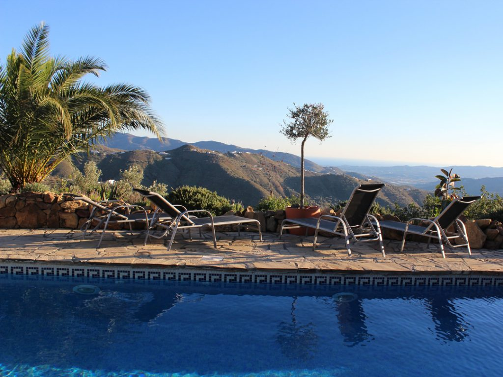 Magnificent view from Cortijo El Carligto Private Andalusian Hideaway Carol Ketelson Delectable Destinations Culinary Tours