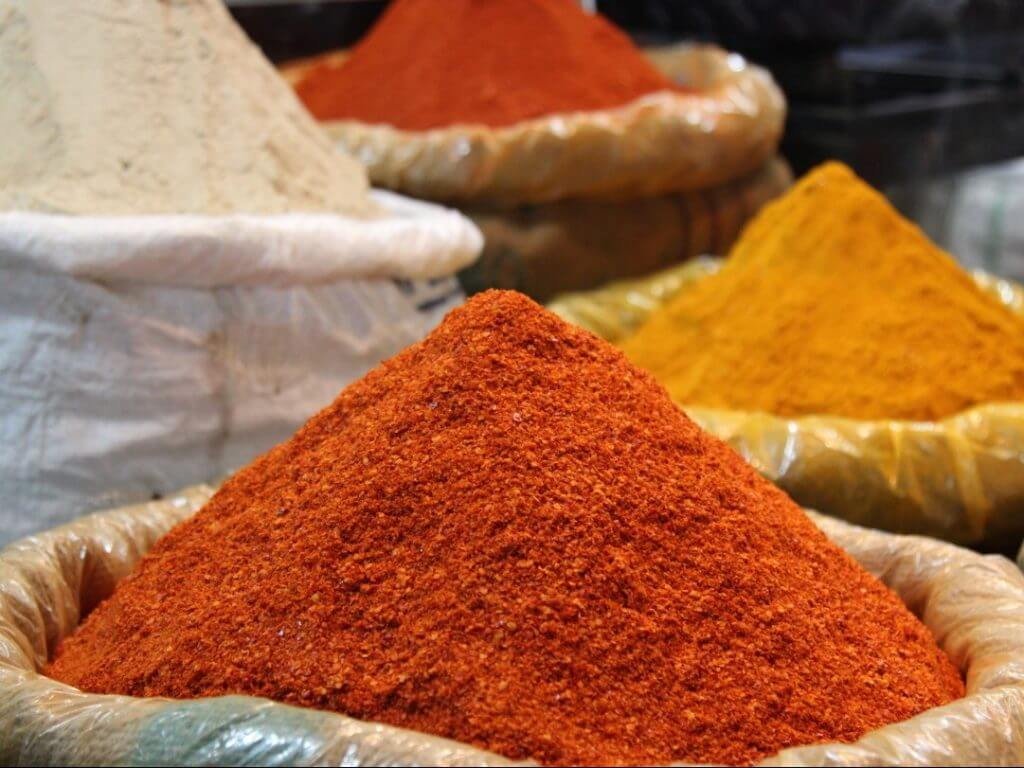 The spice market in Old Delhi India Carol Ketelson Delectable Destinations Culinary Tours