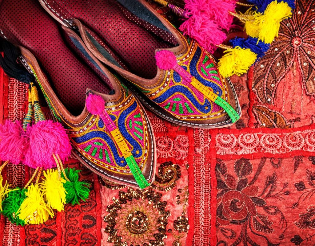 colorful slippers on indian carpet India Amalfi Coast Italy Carol Ketelson Delectable Destinations Culinary Tours