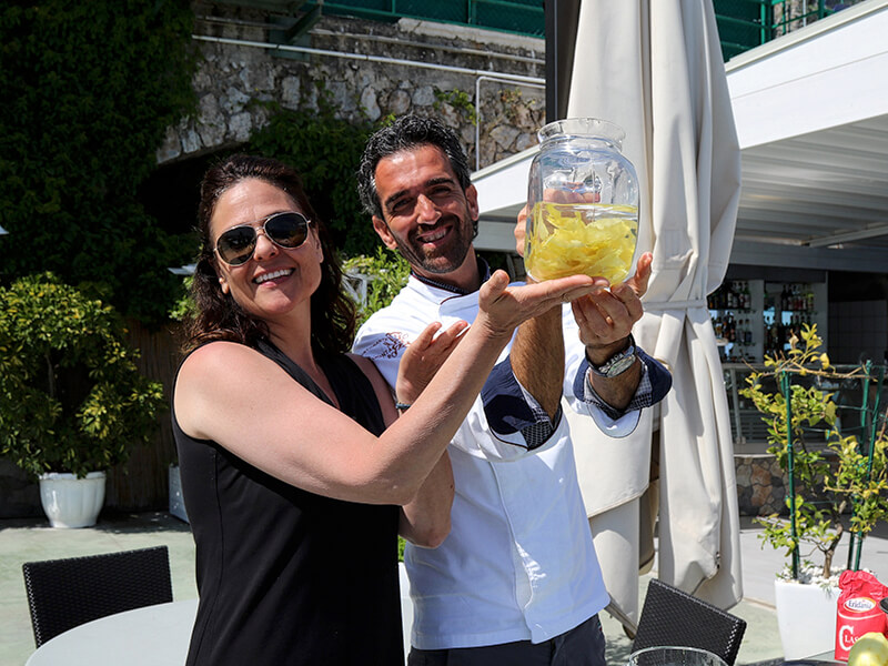 When life hands you lemons make limoncello Chef Rachel Reuben Carol Ketelson Delectable Destinations Culinary Tours