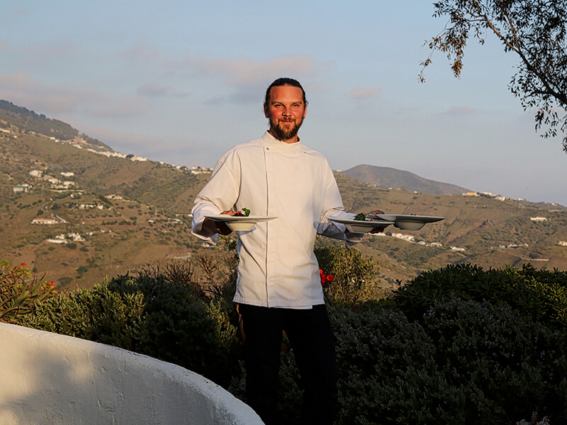 Private Chef David at El Carligto Andalucia Spain Carol Ketelson Delectable Destinations Culinary Tours