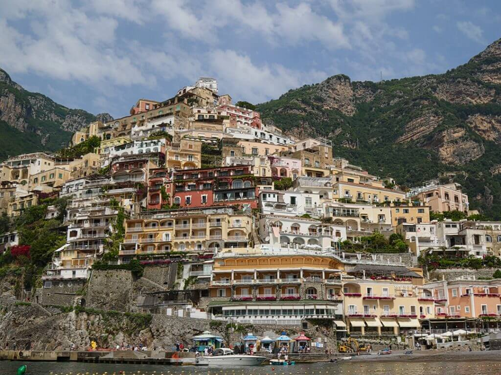 Vertical Town of Positano Amalfi Coast Italy Carol Ketelson Delectable Destinations Culinary Tours