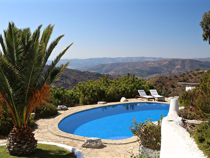 Pool overlooking mountains in Andalusia Delectable Destinations Ultimate Guide Travel Divorce