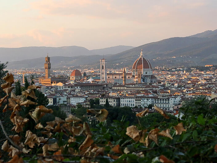 a-view-of-florence-italy-at-sunset Delectable Destinations Ultimate Guide Travel Divorce