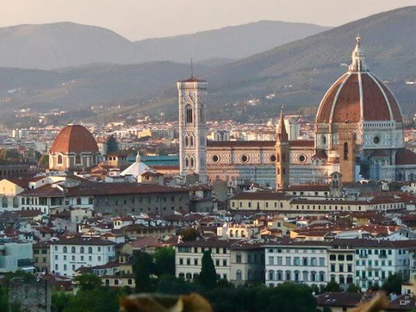 a sunset view of the Duomo in Florence Italy Carol Ketelson Delectable Destinations Culinary Tours