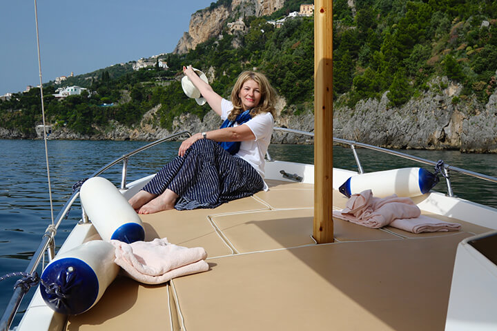 Amalfi Coast private boat charters Carol Ketelson Delectable Destinations Culinary Tours Retreat Move Forward blog