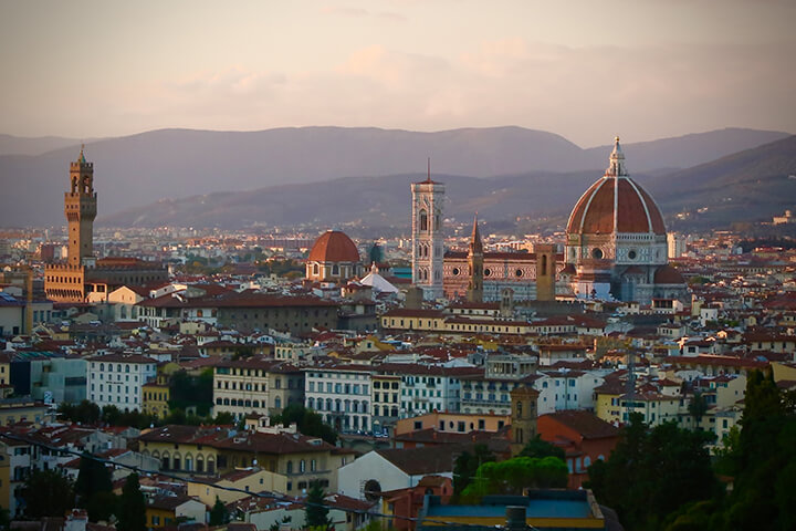 florence-at-sunset-italy-carol-ketelson-delectable-destinations-Memories-2016
