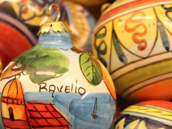 Christmas ornaments from Ravello on the Amalfi Coast Italy Carol Ketelson Delectable Destinations Culinary Tours