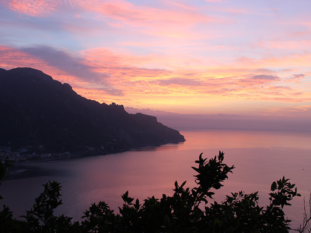 Sunrise Amalfi Coast Villa San Cosma Ravello Delectable Destinations Carol Ketelson Jodie's Blog