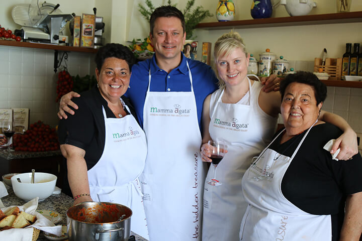 Enjoying our day at Mamma Agata's Cooking School on the Amalfi Coast - Capturing 2017 Carol Ketelson Delectable Destinations