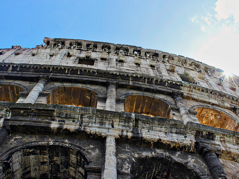 The Coliseum in Rome - Long flights Jet lag Downside Plane Travel No problem Blog - Carol Ketelson - Delectable Destinations
