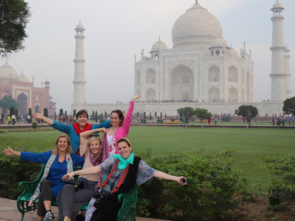 Group Tour Taj Mahal, Agra, India - Carol Ketelson Delectable Destinations Culinary Tours