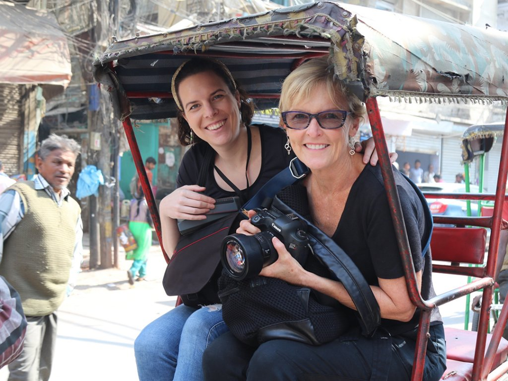 Great street photography, Rickshaw Rides in Old Delhi, India - Carol Ketelson Delectable Destinations Culinary Tours