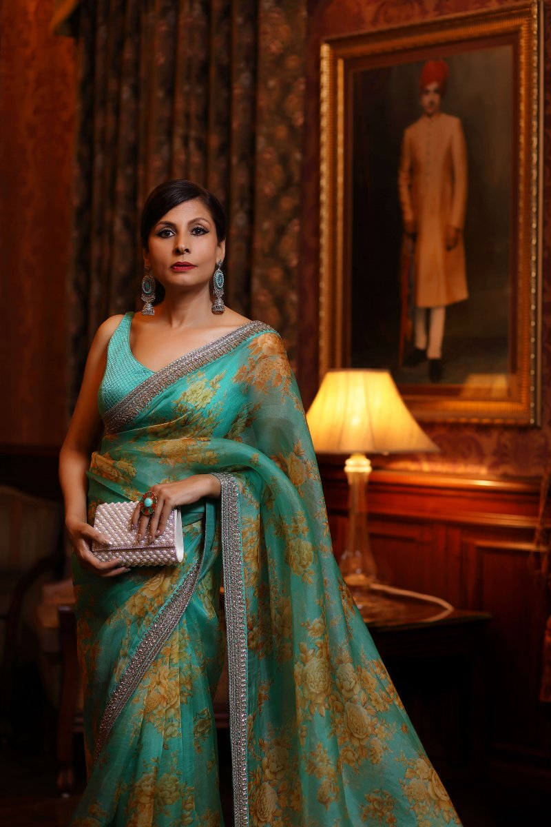 Green Saree, The Timelessness of the Classic Indian Saree, Delectable Destinations