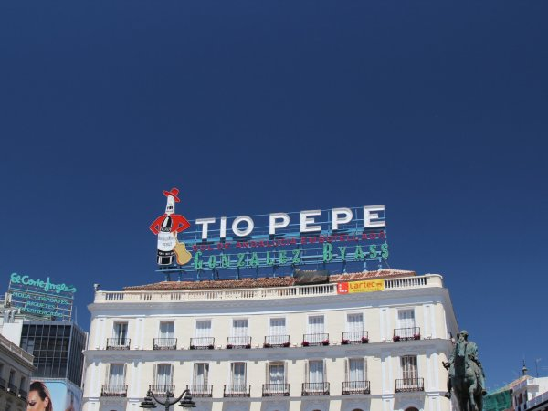 Tio Pepe Sign in Puerta del Sol, Madrid